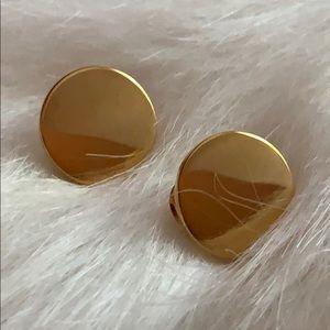 6/$25- VTG Monet Simple Round Earrings